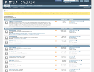 mydeathspace.com screenshot