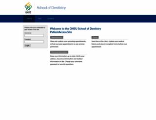 mydental.ohsu.edu screenshot