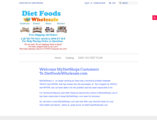 mydietshopz.com screenshot