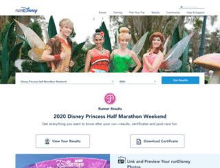mydisneymarathon.com screenshot