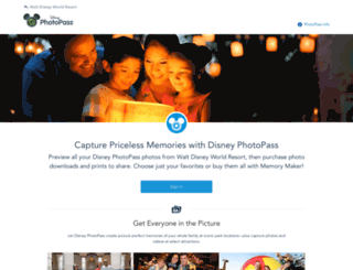 mydisneyphotopass.disney.go.com screenshot