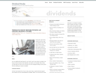 mydividendstocks.com screenshot