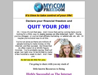 mydotcomfreedom.com screenshot