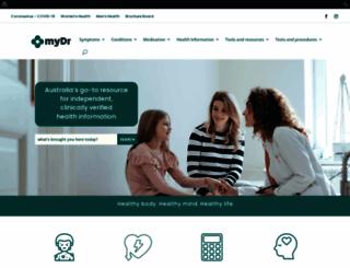 mydr.com.au screenshot