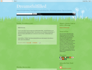mydreamfulfilled.blogspot.com screenshot