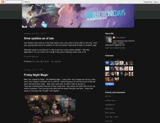 myelectronicdays.blogspot.com screenshot