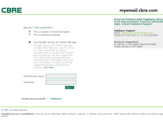 myemail.cbre.com screenshot
