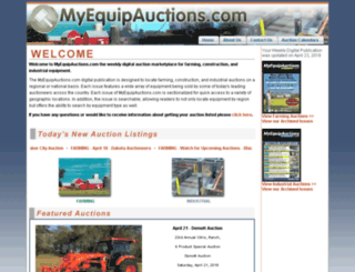 myequipauctions.com screenshot