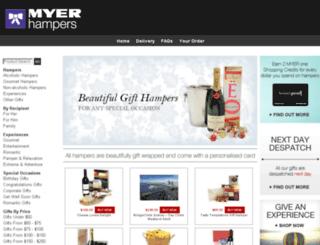 myer-hampers.com.au screenshot
