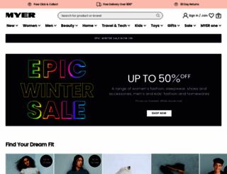 myer.com.au screenshot