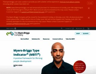 myersbriggsreports.com screenshot
