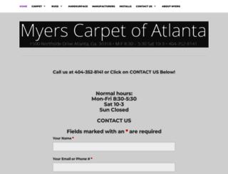 myerscarpetatlanta.com screenshot