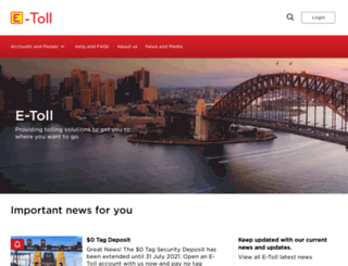 myetoll.com.au screenshot