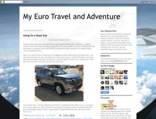 myeurotravelandadventures.blogspot.se screenshot