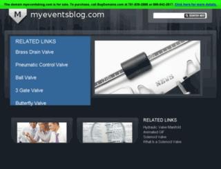 myeventsblog.com screenshot