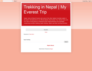 myeveresttripnepal.blogspot.com screenshot