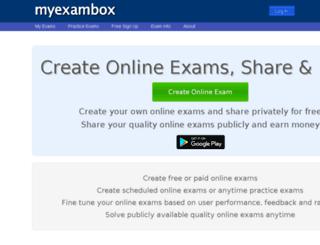 myexambox.com screenshot