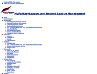 myfantasyleague.com screenshot