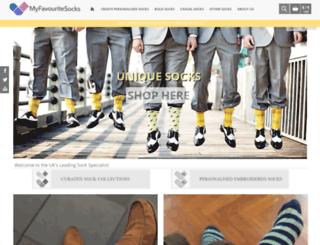 myfavouritesocks.com screenshot