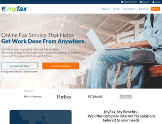 myfax.com screenshot
