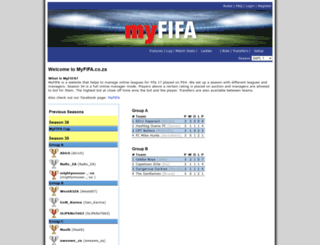myfifa.co.za screenshot
