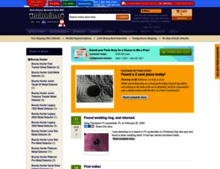 myfinds.metaldetector.com screenshot