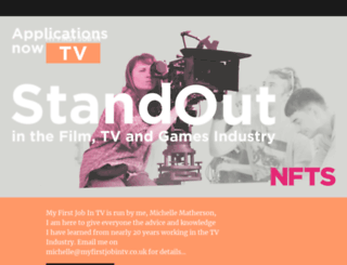 myfirstjobintv.co.uk screenshot