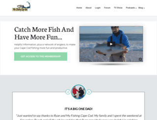 myfishingcapecod.com screenshot