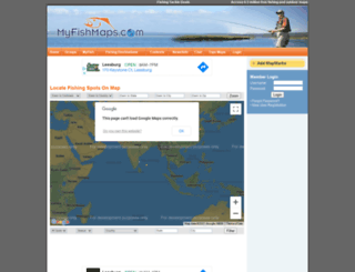 myfishmaps.com screenshot