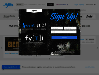 myfonts.com screenshot