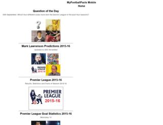 myfootballfacts-mobile.appspot.com screenshot