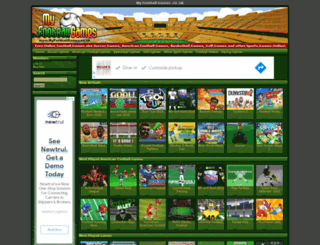 myfootballgames.co.uk screenshot