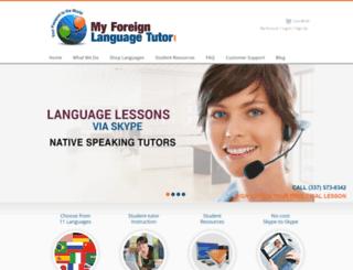 myforeignlanguagetutor.com screenshot