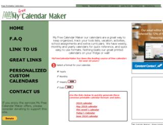 myfreecalendarmaker.com screenshot