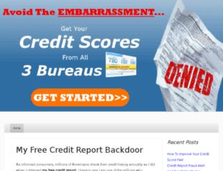 myfreecreditreportx.com screenshot