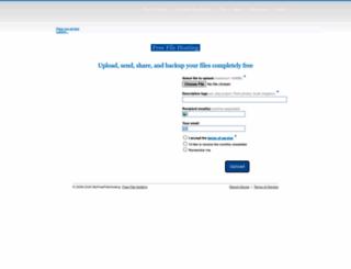 myfreefilehosting.com screenshot