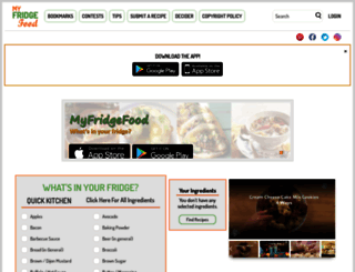 myfridgefood.com screenshot