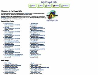 myfrugallife.com screenshot