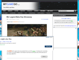 mygamego.com screenshot
