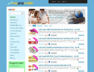 mygigcafe.com screenshot