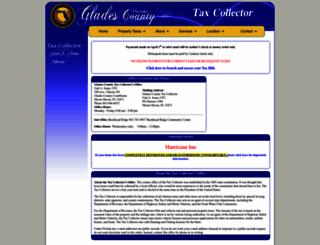 mygladescountytaxcollector.com screenshot