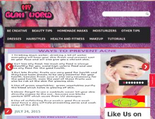 myglamworld.com screenshot