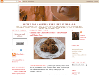 myglutenfreecookbook.blogspot.com screenshot