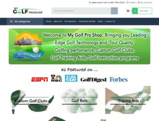 mygolfproshop.com screenshot