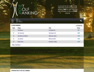 mygolfranking.net screenshot