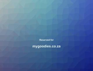 mygoodies.co.za screenshot
