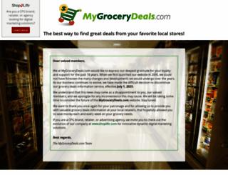 mygrocerydeals.com screenshot