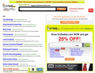 mygrocerystoreonline.com screenshot