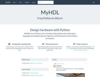 myhdl.org screenshot