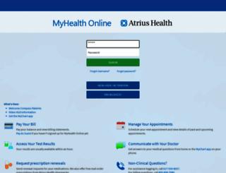 myhealth.atriushealth.org screenshot